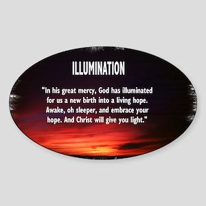Illumination Oval Sticker