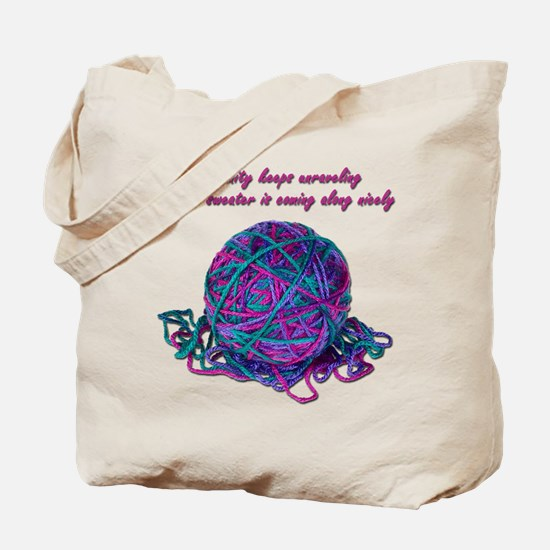 Unraveling Sanity Tote Bag