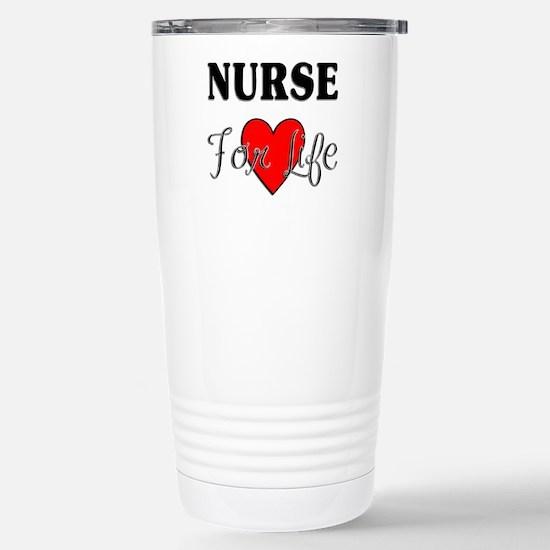 Nurse For Life Stainless Steel Travel Mug