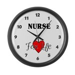 Nurse For Life Large Wall Clock