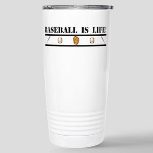 Baseball is Life (stripe) Stainless Steel Travel M