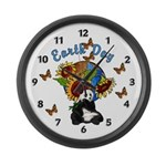 Earth Day Planet Large Wall Clock