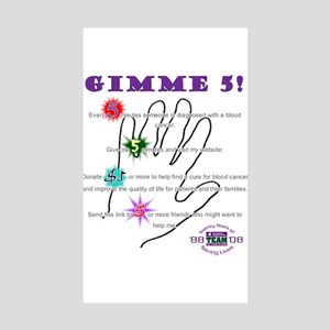 gimme 5 Rectangle Sticker 10 pk)
