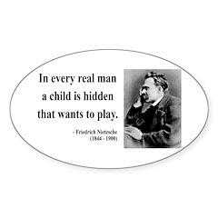 Nietzsche 32 Oval Decal