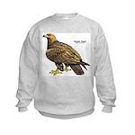 Golden Eagle Bird (Front) Kids Sweatshirt