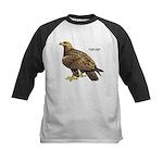 Golden Eagle Bird Kids Baseball Jersey