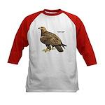 Golden Eagle Bird (Front) Kids Baseball Jersey