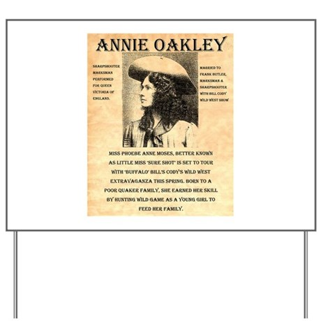 Annie Oakley Yard Sign