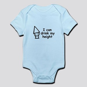 I can drink my height Infant Bodysuit