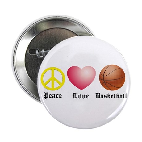 """Peace, Love, Basketball 2.25"""" Button (10 pack)"""