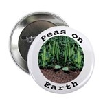 "Peas On Earth 2.25"" Button (10 pack)"