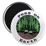 "Peas On Earth 2.25"" Magnet (10 pack)"
