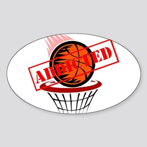 Basketball Addict Oval Sticker