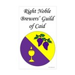 Caid Brewers' Guild Rectangle Sticker 10 pk)