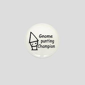 Gnome Punting Champion Mini Button
