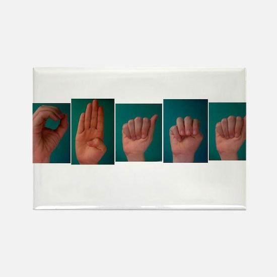 Obama ASL Rectangle Magnet (10 pack)