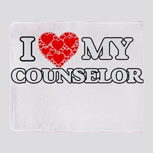 I Love my Counselor Throw Blanket
