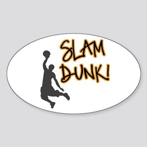 Slam Dunk Oval Sticker