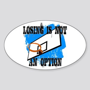 Losing Basketball Oval Sticker