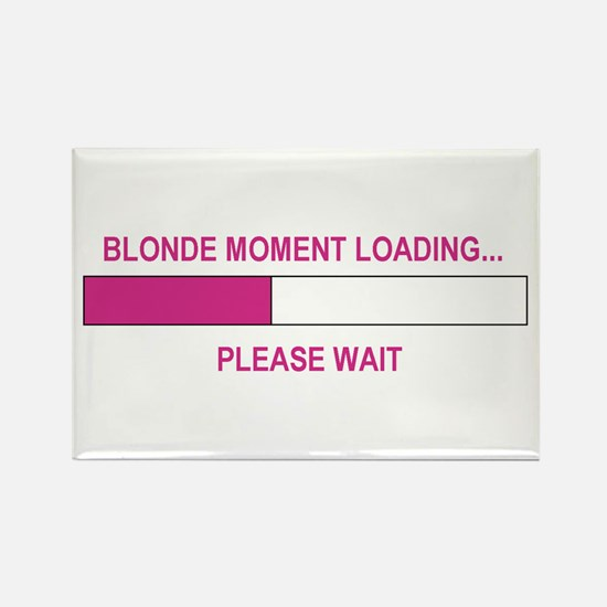 BLONDE MOMENT LOADING... Rectangle Magnet
