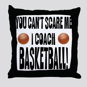 I Coach Basketball Throw Pillow