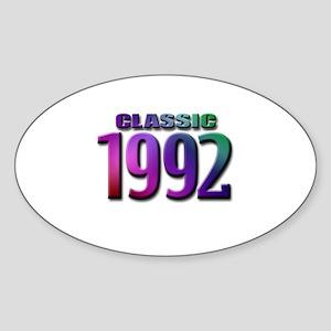 classic 1992 Oval Sticker (10 pk)
