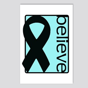 Light Blue (Believe) Ribbon Postcards (Package of