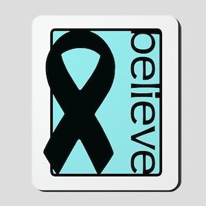 Light Blue (Believe) Ribbon Mousepad