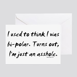 I'm Just An Asshole Greeting Cards (Pk of 10)