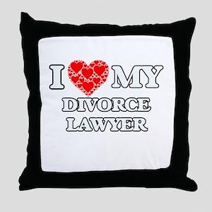 I Love my Divorce Lawyer Throw Pillow