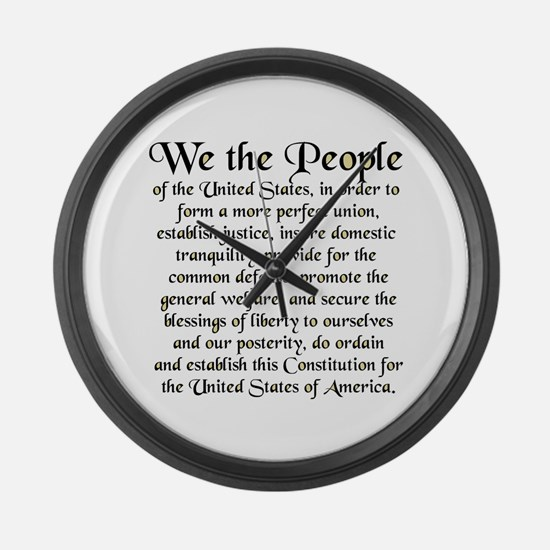 We the People US Large Wall Clock