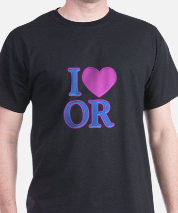 I Love OR T-Shirt