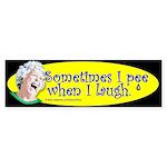 Sometimes I Pee (Bumper Sticker)