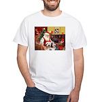 Santa's Beardie pair White T-Shirt