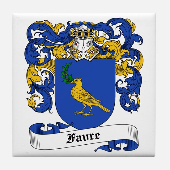 Favre Family Crest Tile Coaster