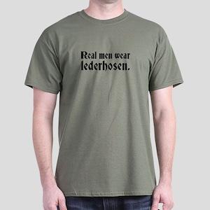 Real Men Wear Lederhosen Dark T-Shirt