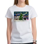 Xmas Magic & Beardie Women's T-Shirt