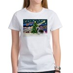Xmas Magic & Beardie Women's T-Shirt