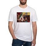 Santa's Bedlington Fitted T-Shirt