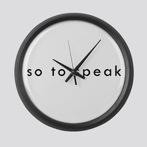 So To Speak Large Wall Clock
