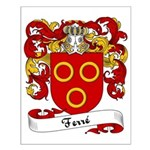 Ferré Family Crest Small Poster