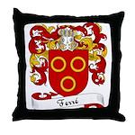 Ferré Family Crest Throw Pillow