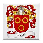 Ferré Family Crest Tile Coaster
