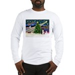 Xmas Magic & Border Collie Long Sleeve T-Shirt