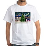 Xmas Magic & Border Collie White T-Shirt