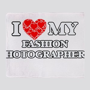 I Love my Fashion Photographer Throw Blanket