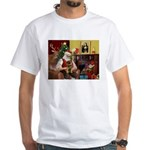 Santa's Border Terrier White T-Shirt