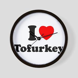 I Love Tofurkey Wall Clock