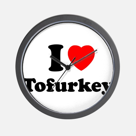I Love Tofurkey Wall Clock