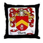 Fleury Family Crest Throw Pillow